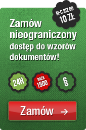 Zamw nieograniczony dostp do wzorw dokumentw!